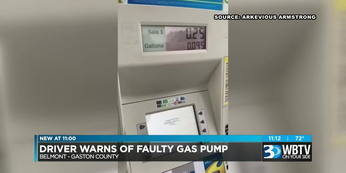 Charlotte man films gas pump allegedly charging him before fuel is dispensed