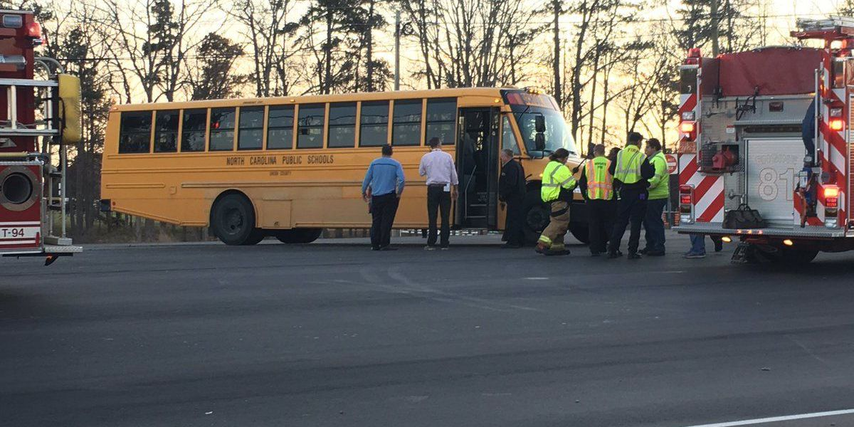 Person seriously injured after school bus crash in Union County