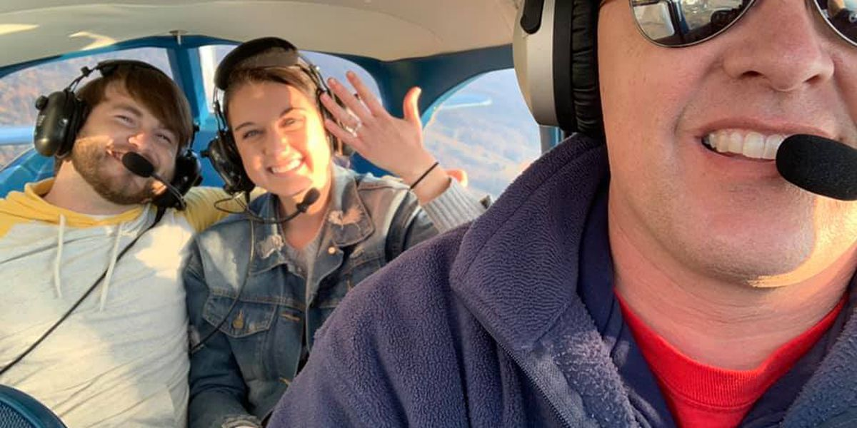 Lewisport, KY couple engaged after flyover proposal