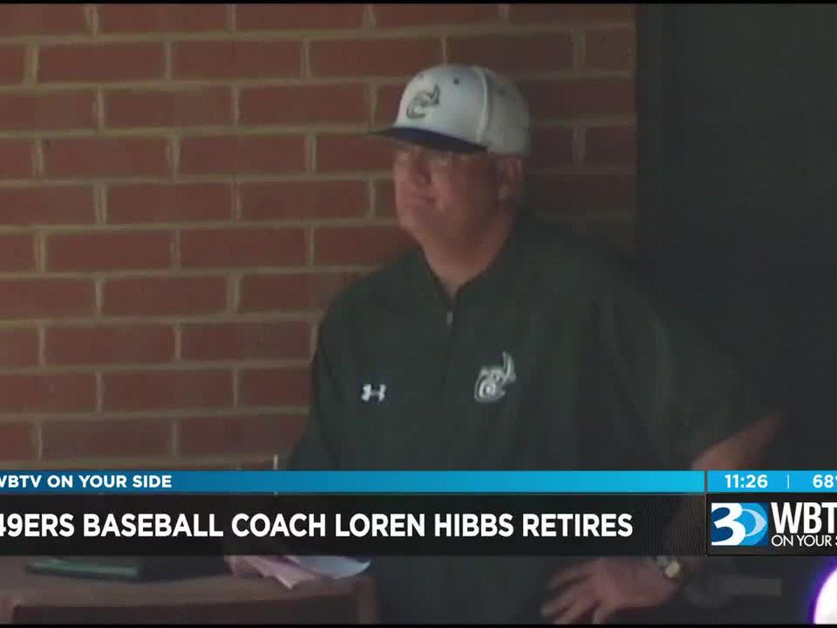 Charlotte 49ers baseball coach Loren Hibbs retires