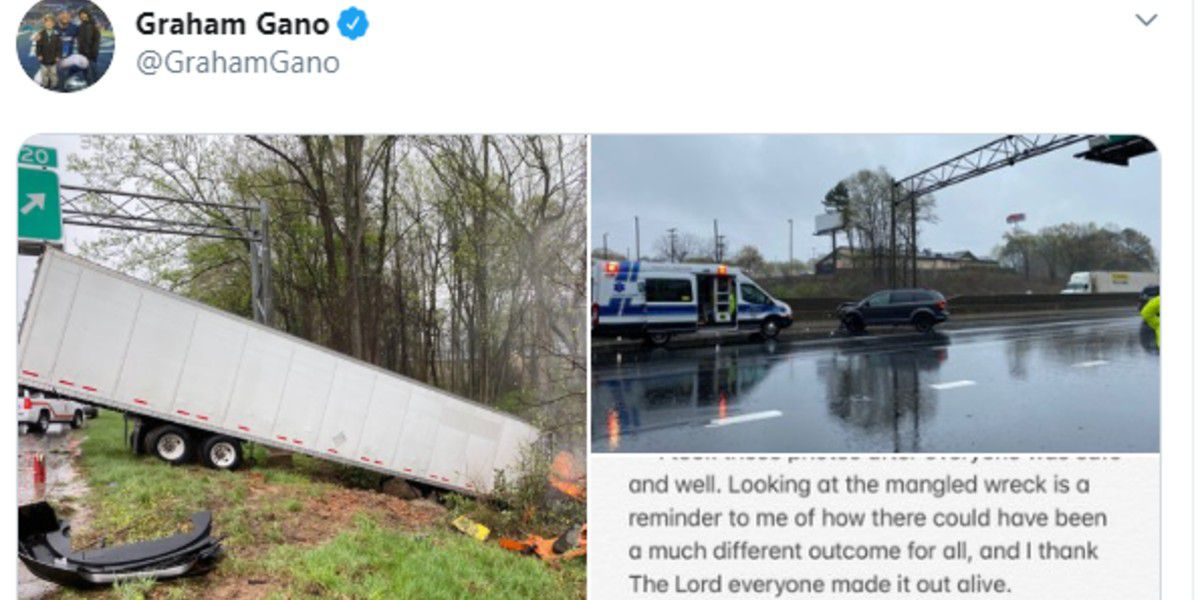 Panthers kicker Graham Gano 'in awe' as strangers rush to help driver involved in tractor trailer crash in Gastonia