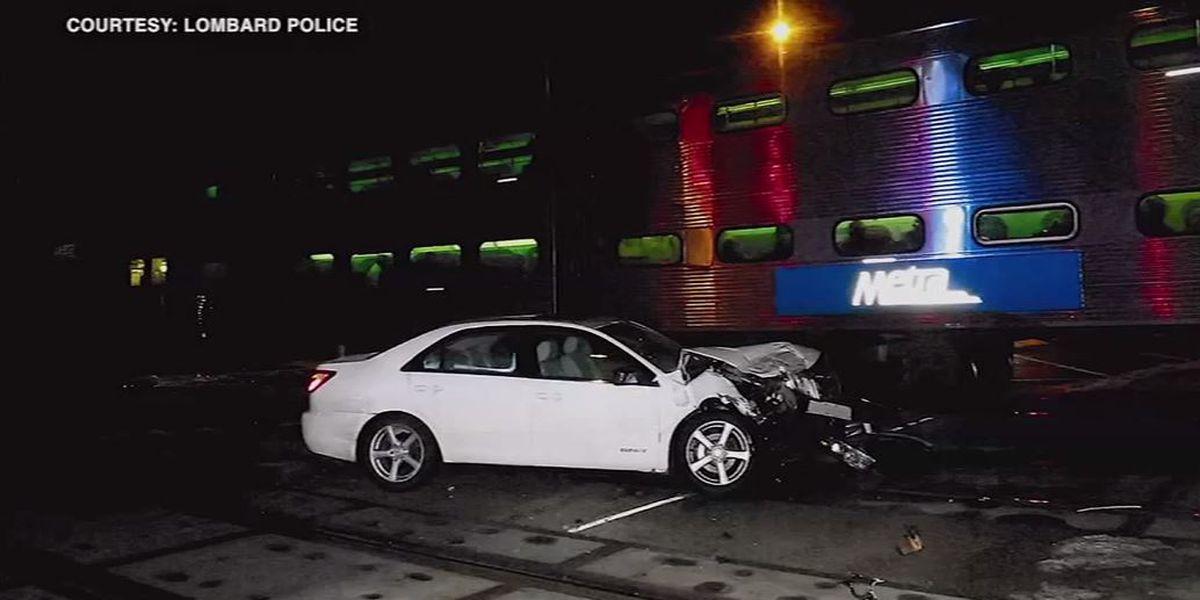 Driver escapes seconds before train crashes into car