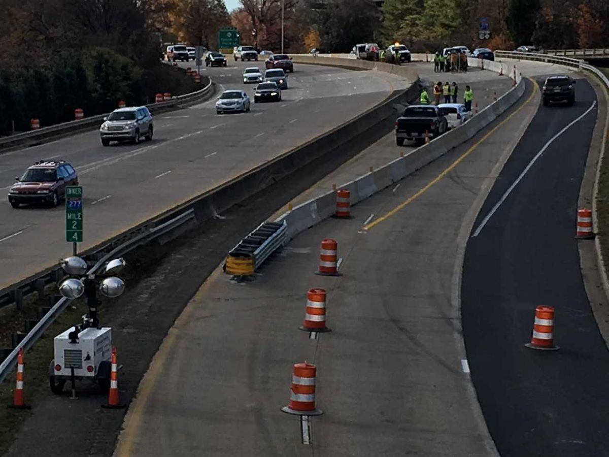 Bridge work on I-277 continues Sunday as part of $16.3 million project