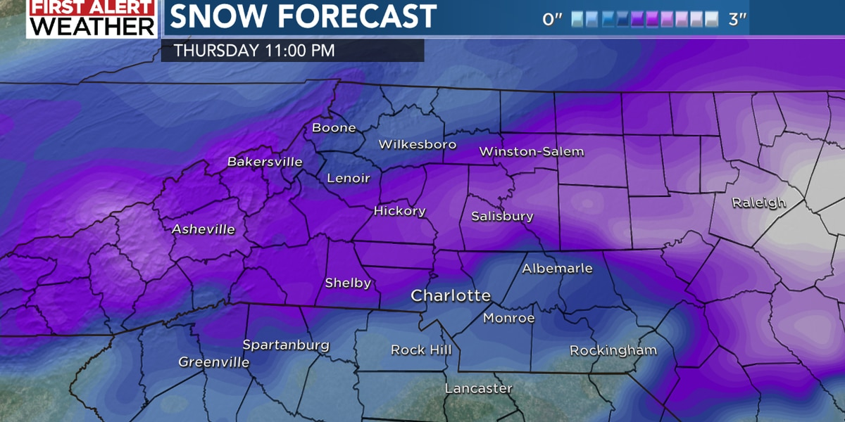In case you haven't heard – snow hits Thursday