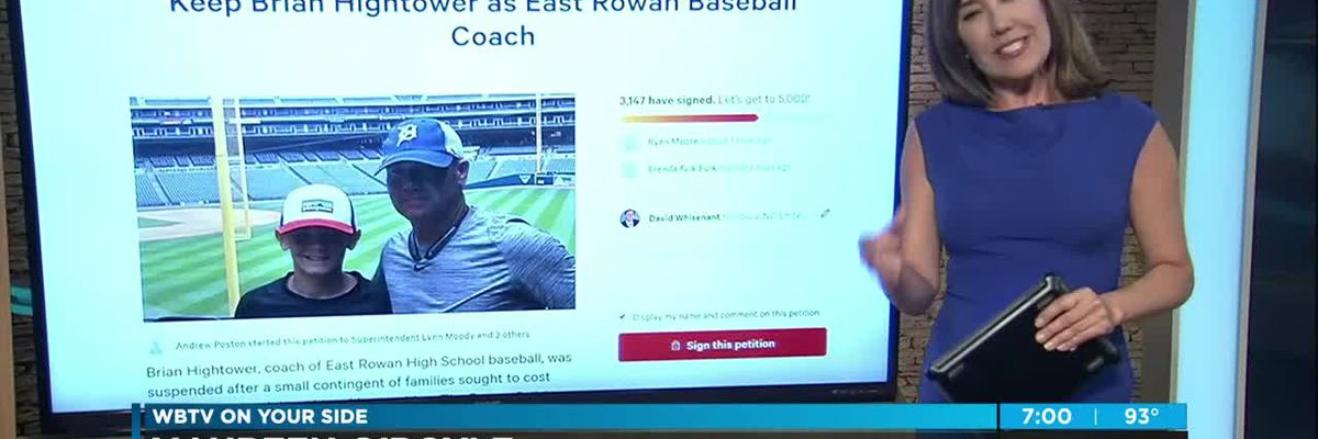 More than 3,000 sign petition in support of East Rowan baseball coach