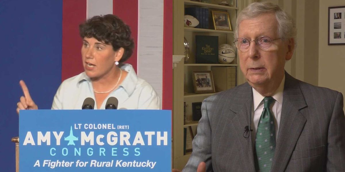 McGrath wins Kentucky Dem primary; McConnell showdown awaits