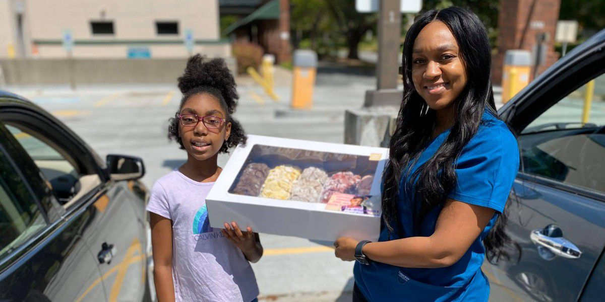 Charlotte 10-year-old using cookie business to spread joy to essential workers
