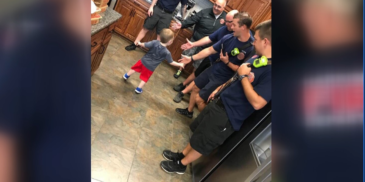 Firefighters save the day for 3-year-old who's birthday party got canceled
