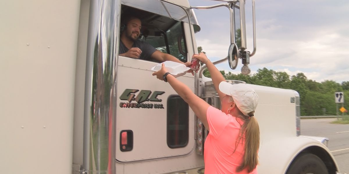 First day of 'Feed Our Truckers' fundraiser was success serving nearly 100 drivers