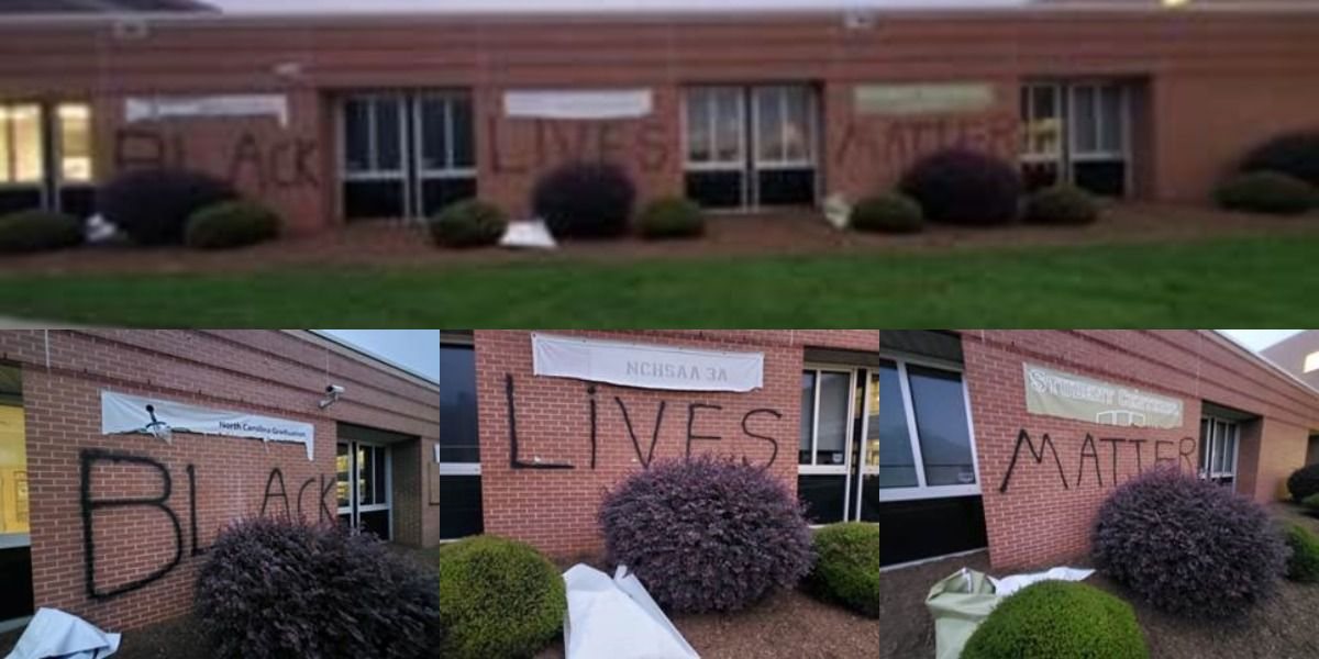 'Black Lives Matter' spray painted on front of high school in Union Co.