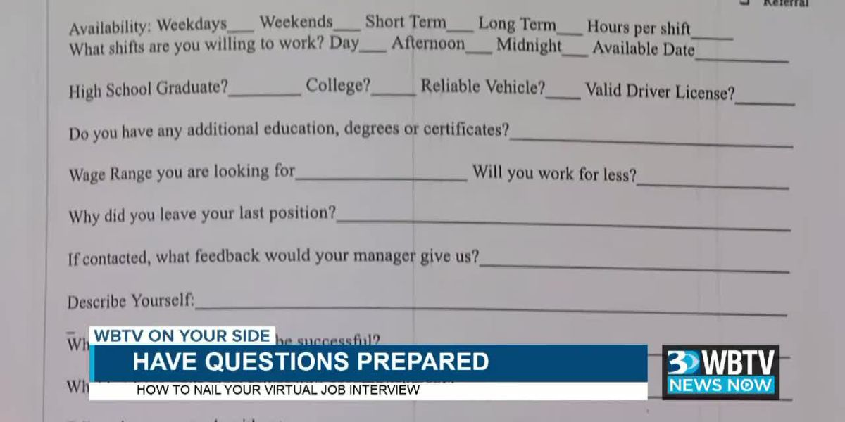 WBTV News Now: How to nail a virtual job interview