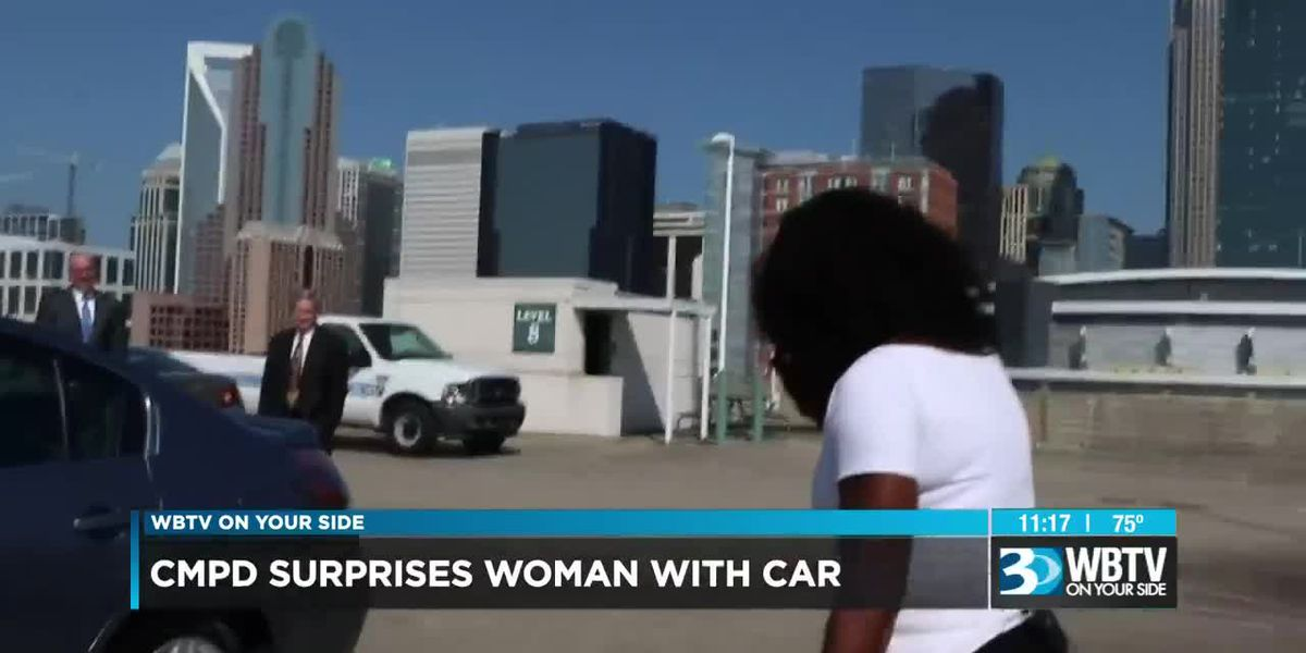 Police, community partners present new car to woman who was carjacked in Charlotte