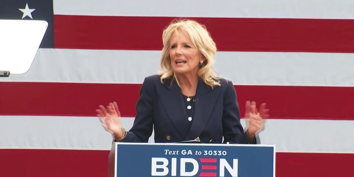 Dr. Jill Biden campaigning for Joe Biden in North Carolina on Election Day