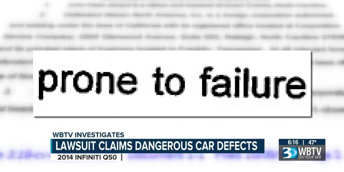 Union County man sues car maker claiming defect caused him to lose control of his car