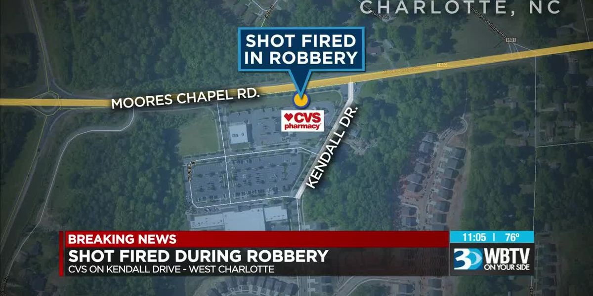 Man robs, fires shot inside CVS in Charlotte