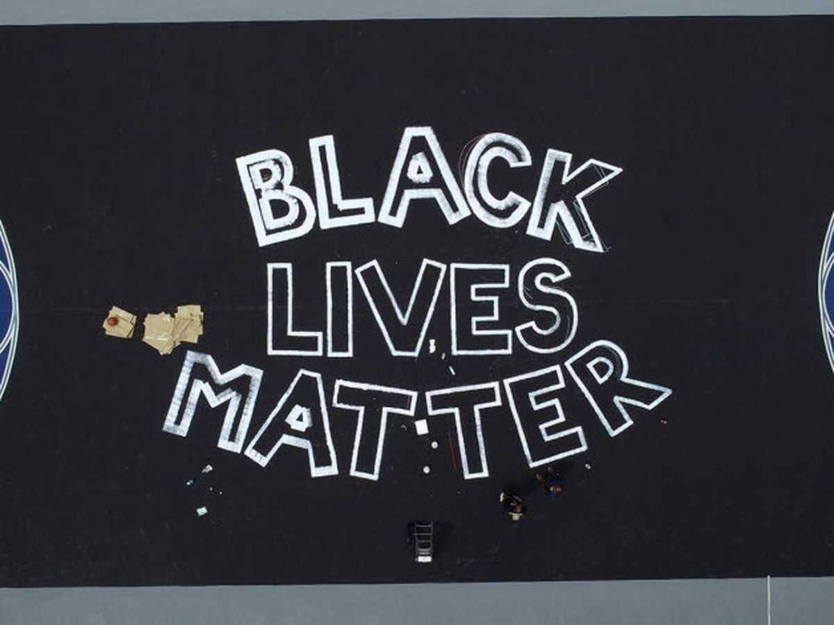 Basketball court at Gastonia park transformed for BLM mural - and they want your help