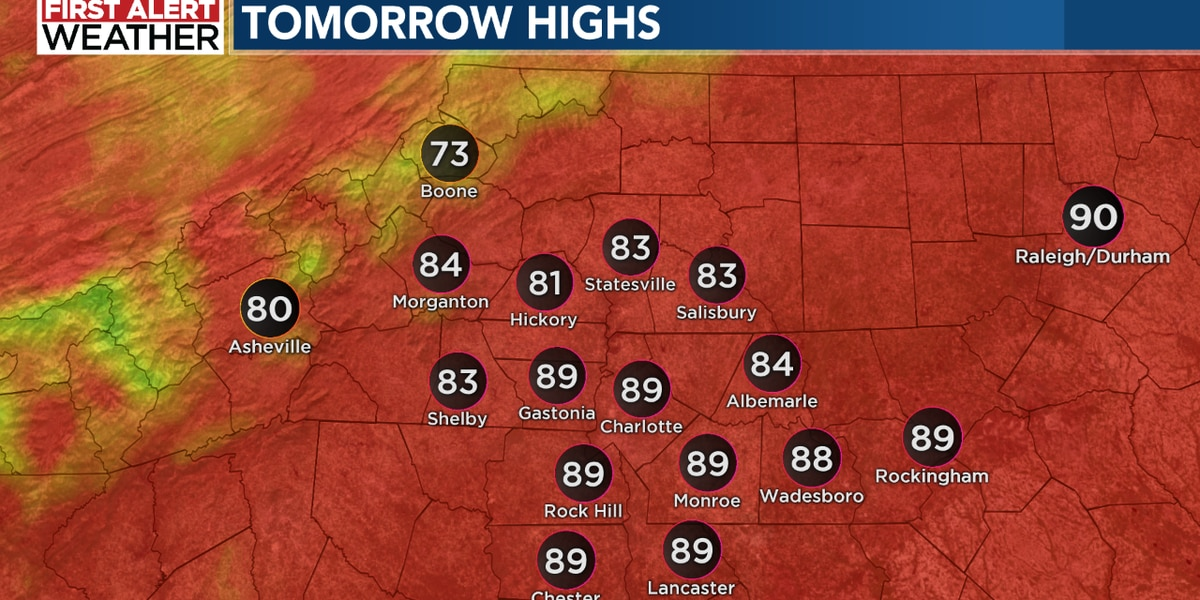 More heat and storms before a little midweek cool-down