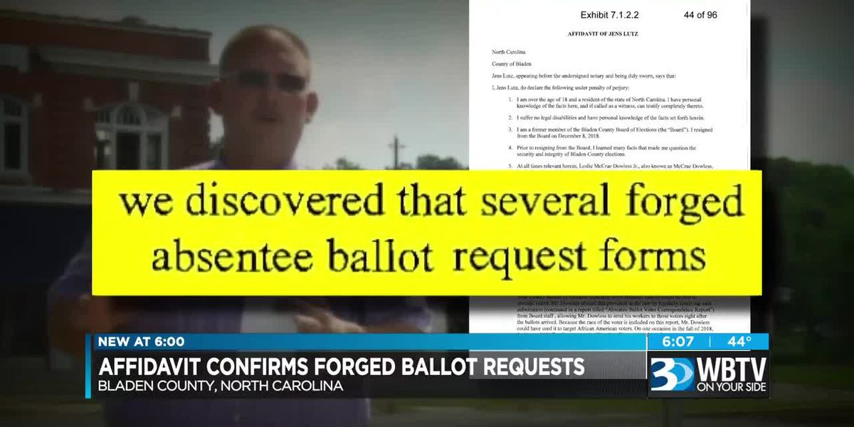 Affidavit confirms forged ballot requests