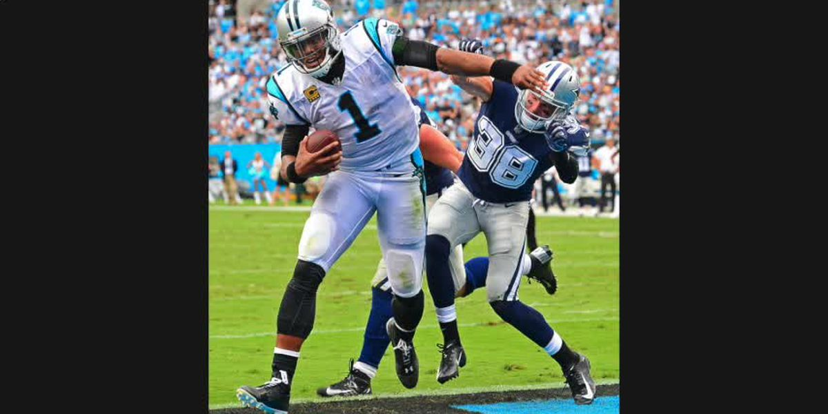 'X' marks the QB spot as Panthers defense steamrolls Dallas in season opener