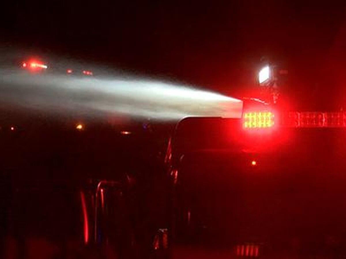 Two fire trucks hit in Matthews wreck