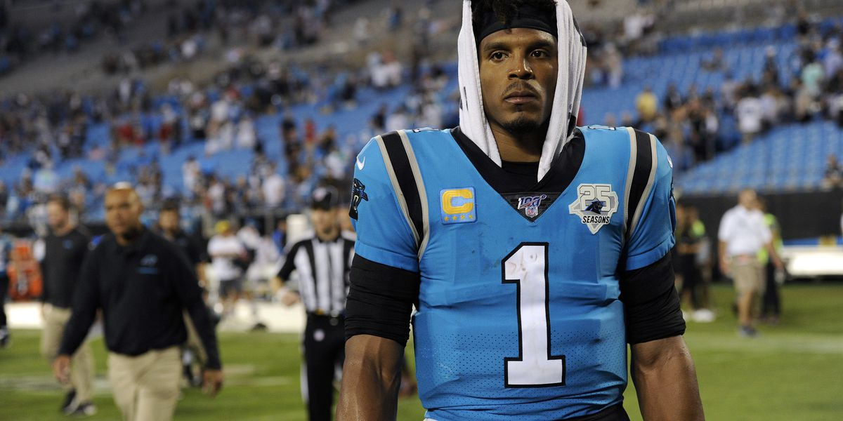 Panthers QB Cam Newton ruled out for Sunday's game vs. Cardinals with foot injury