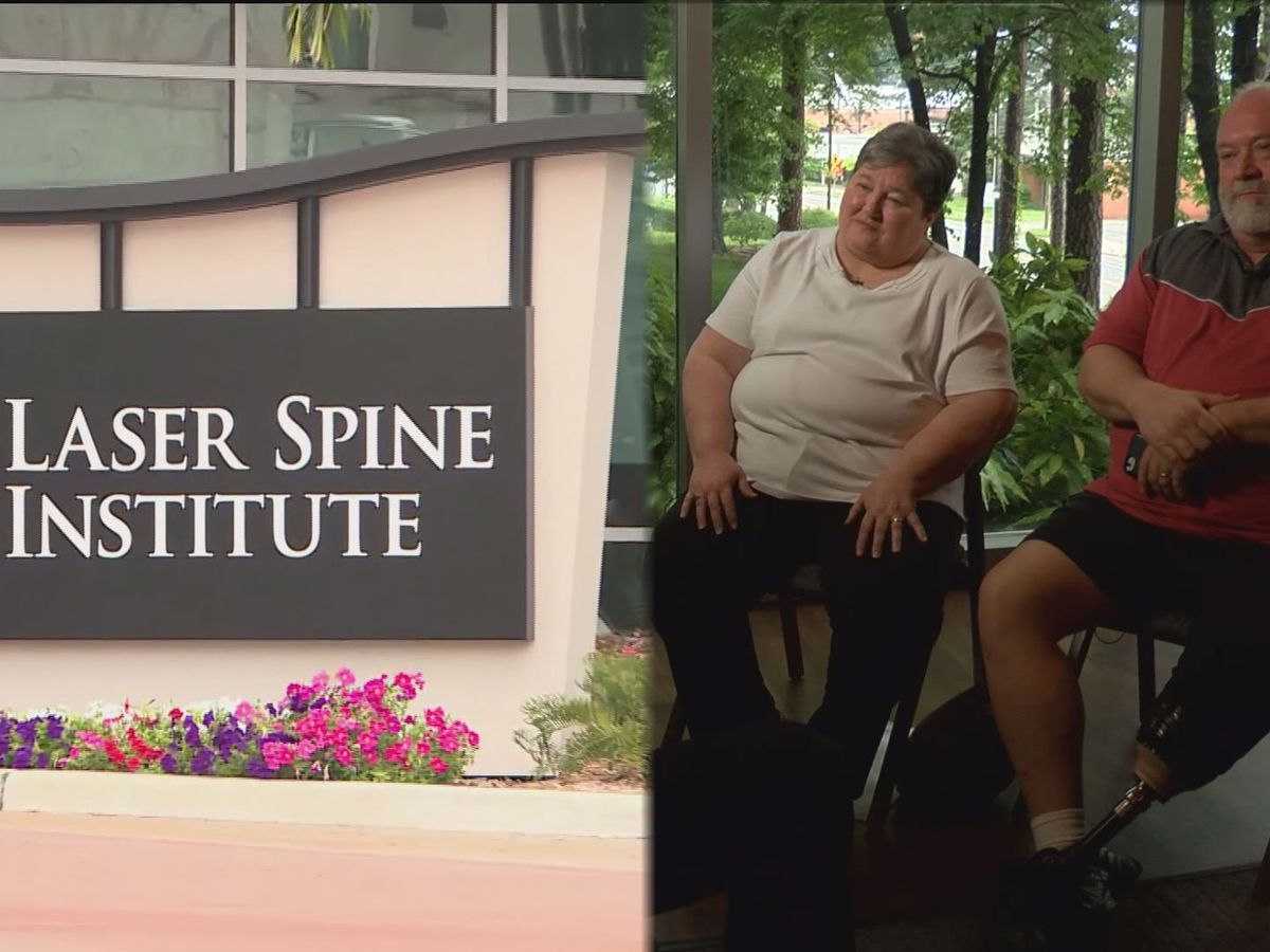 Couple stuck with medical bills after Laser Spine Institute closes