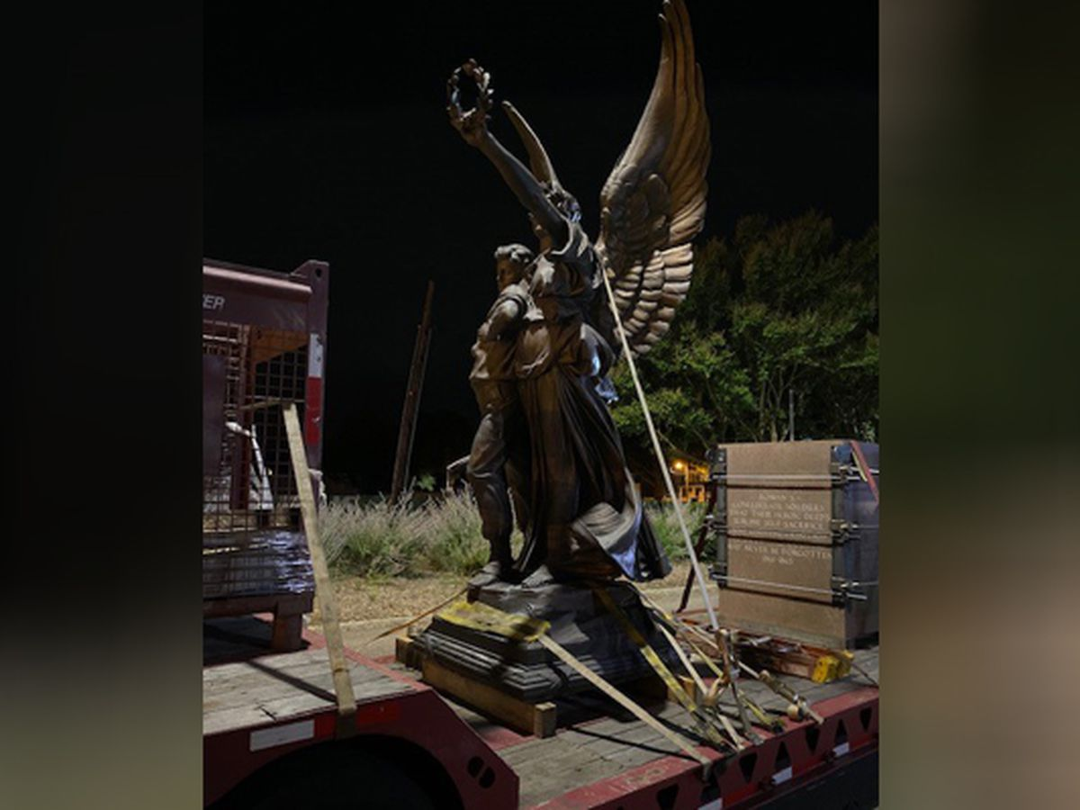 """After 111 years, Salisbury Confederate monument """"Fame"""" moved"""