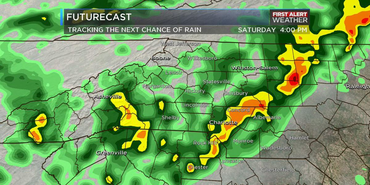 First Alert declared for Saturday with showers and storms in the forecast