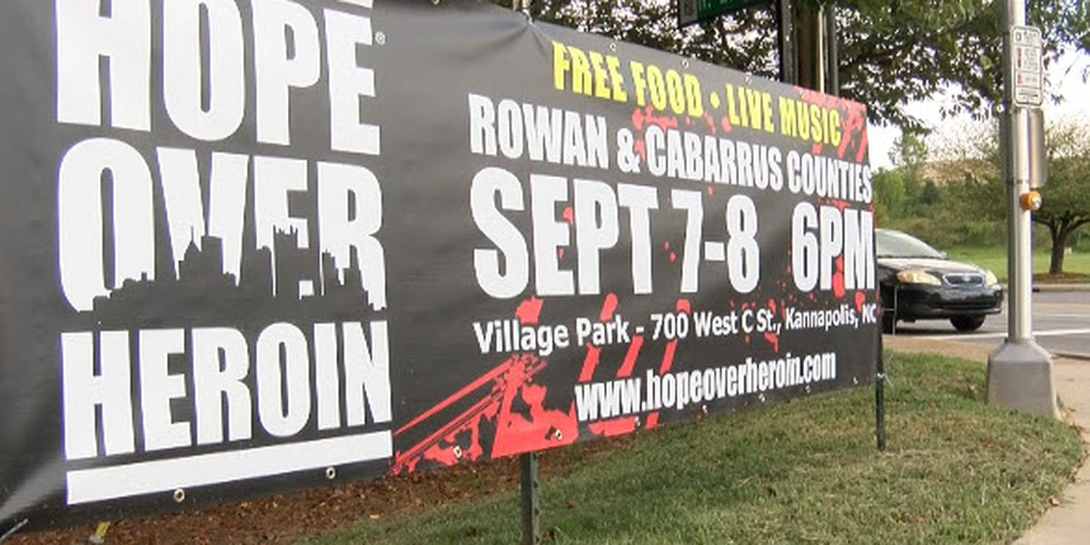 Hope Over Heroin rally this Friday and Saturday in Kannapolis