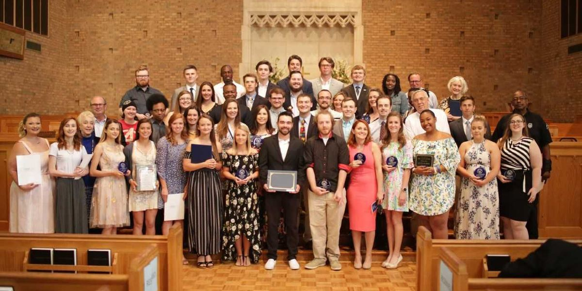 Service, leadership, academic achievements and special merit are focus of Catawba College awards convocation