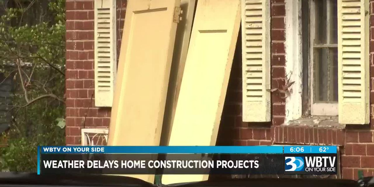 Weather delays home construction projects
