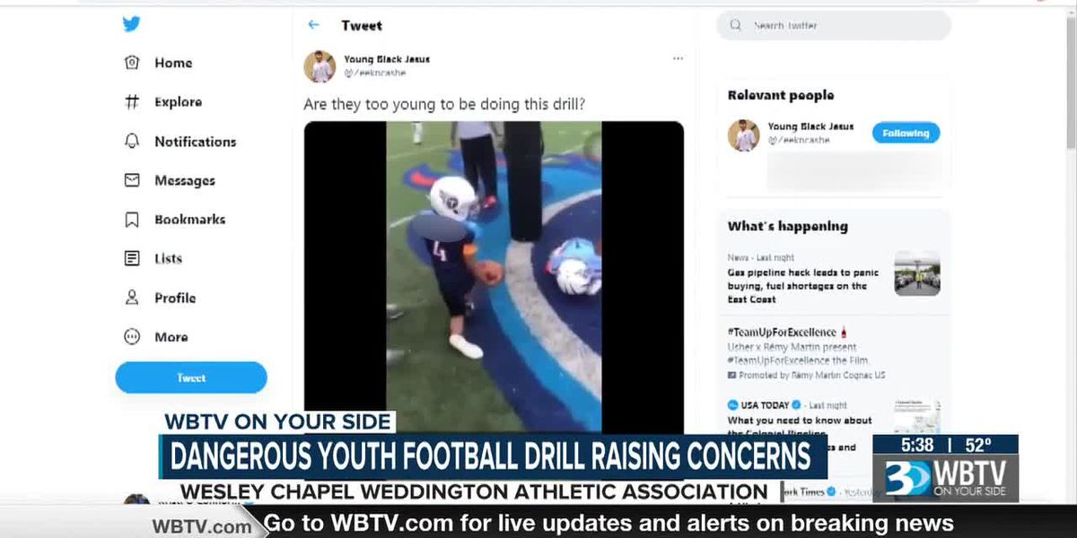 Dangerous youth football drill raising concerns