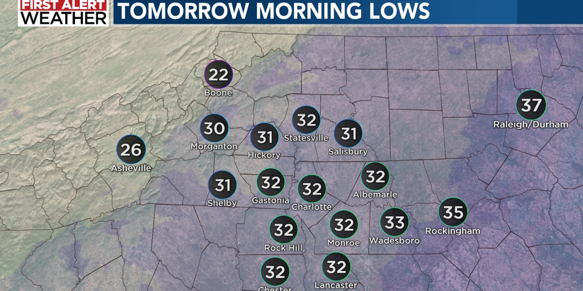 Coldest air of the season arrives Tuesday, with a First Alert for the mountains