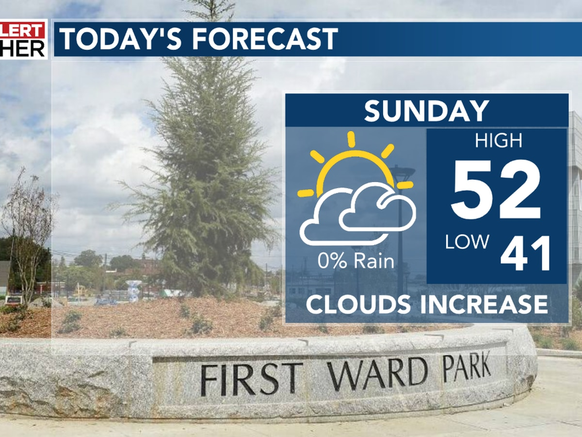 Enjoy Sunday - First Alert for rain on Monday