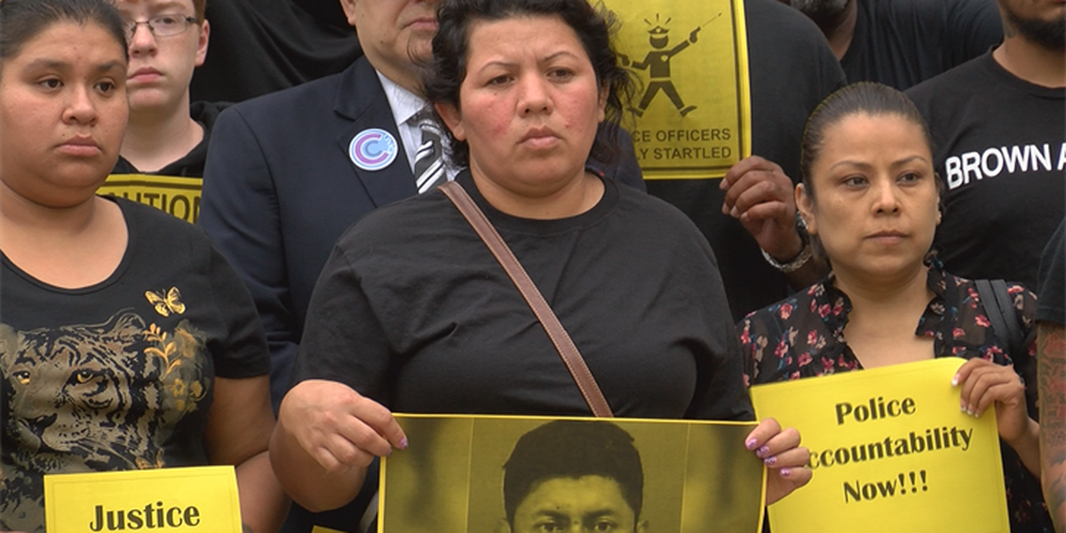 Local activists, Galindo family hold silent protest at city council