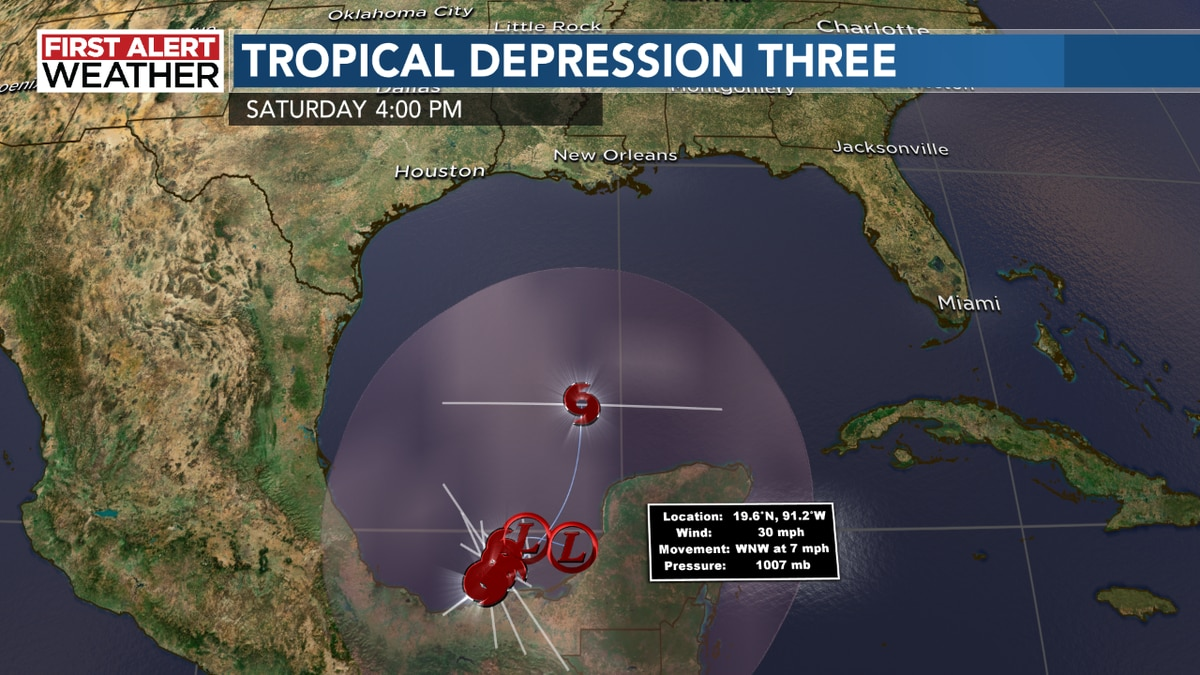Tropical Depression Three has formed in Gulf of Mexico