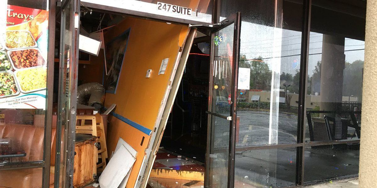 Three businesses shut down after wind gusts damage building in Mooresville