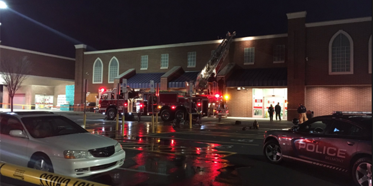 Roof catches fire at Lowe's in Belmont