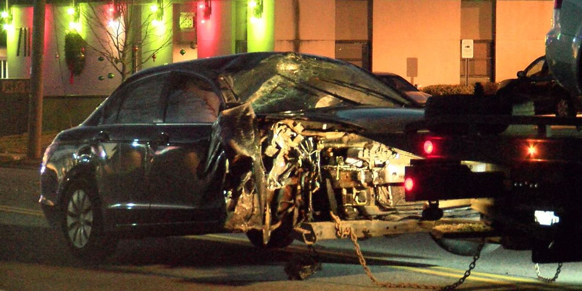 Central Ave reopened after car crashes into telephone pole, bringing down lines