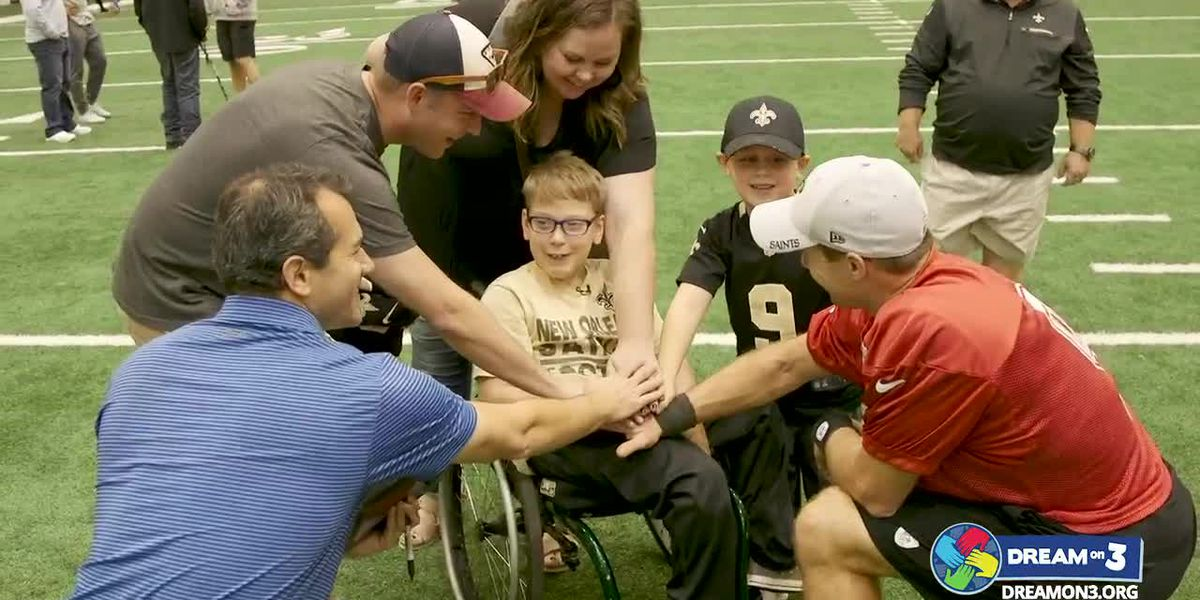 10-year-old local boy gets VIP trip to see New Orleans Saints and Drew Brees