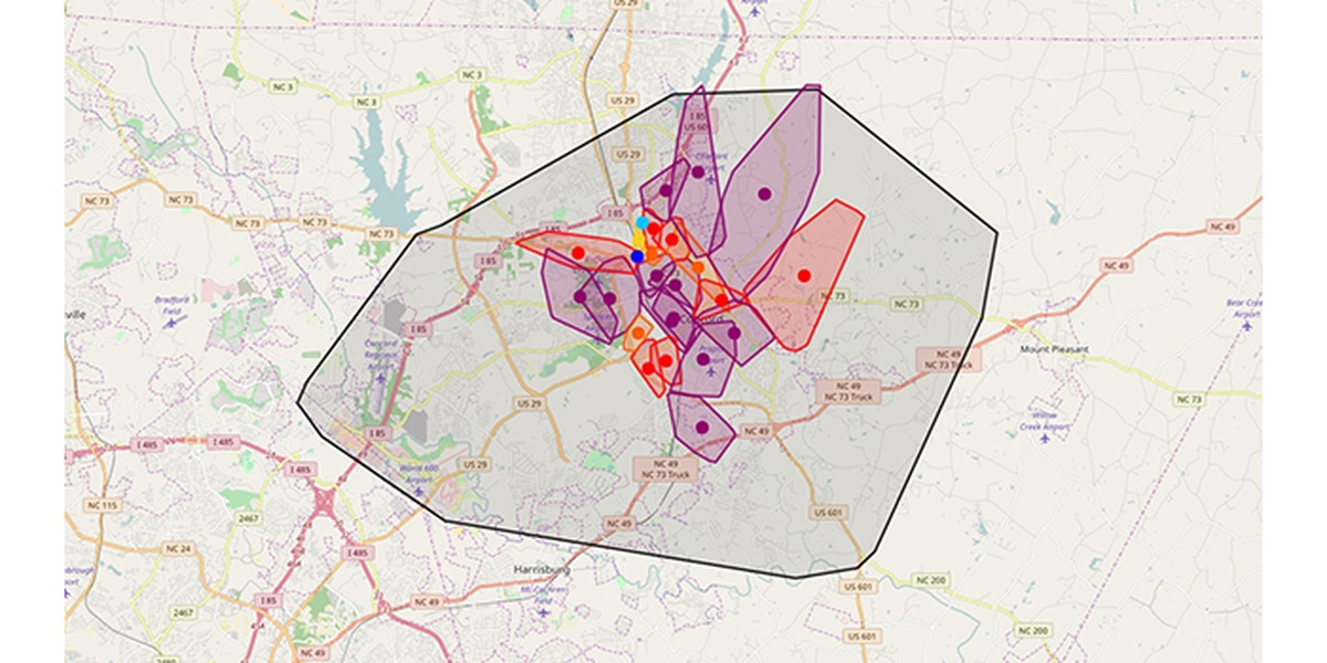 Nearly 15K Mecklenburg, Cabarrus Co residents were without power Sunday