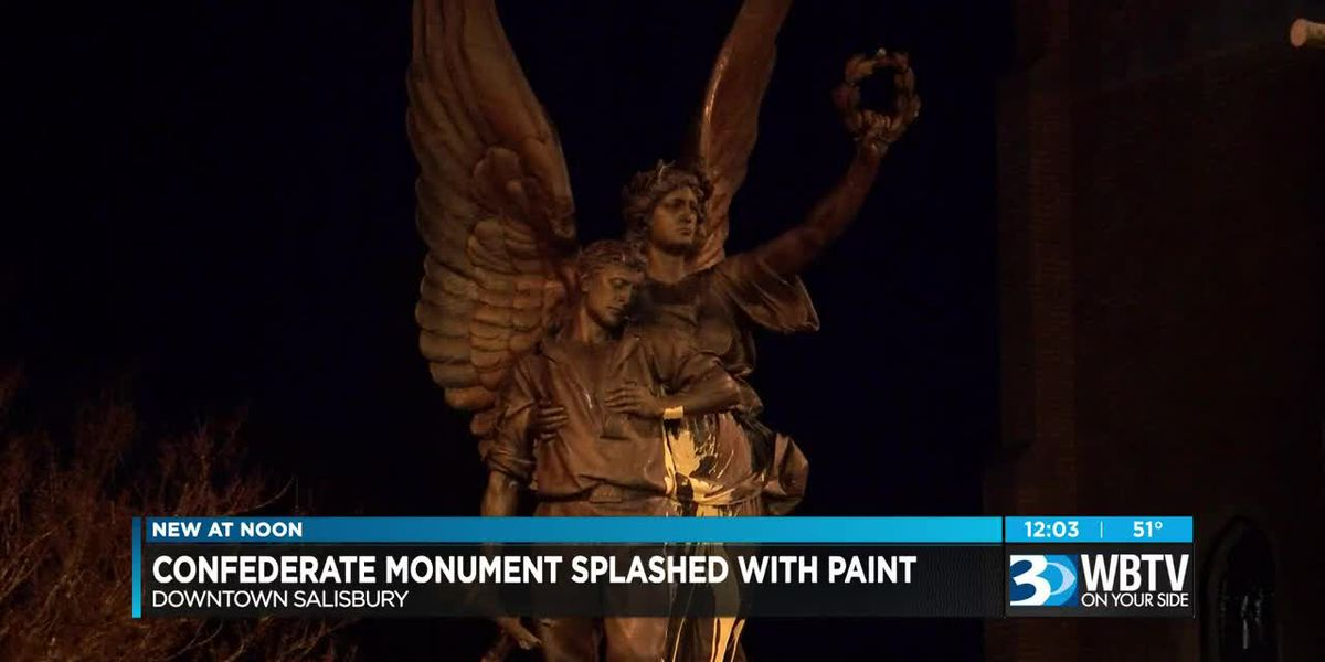 Confederate monument in Salisbury defaced for second time in 7 months