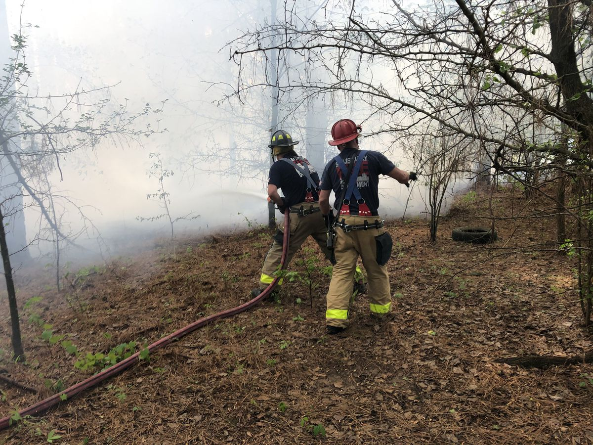 Firefighters battling brush fire in Salisbury