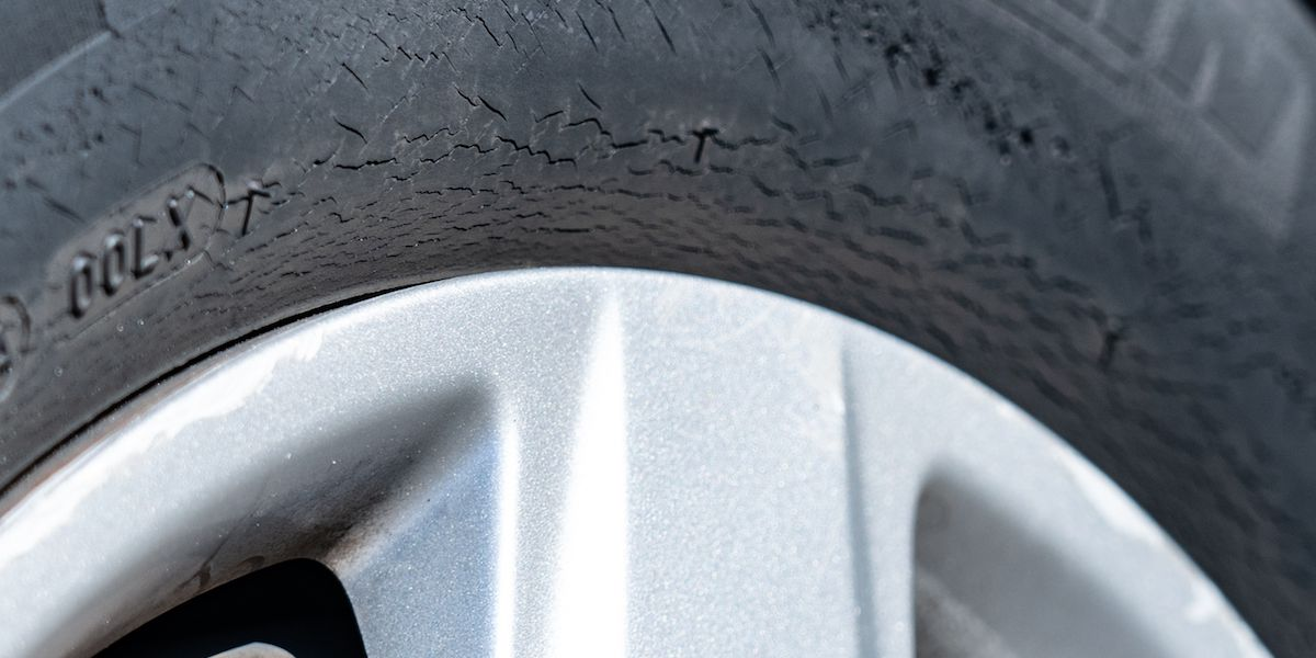 Can you spot different types of car tire wear?