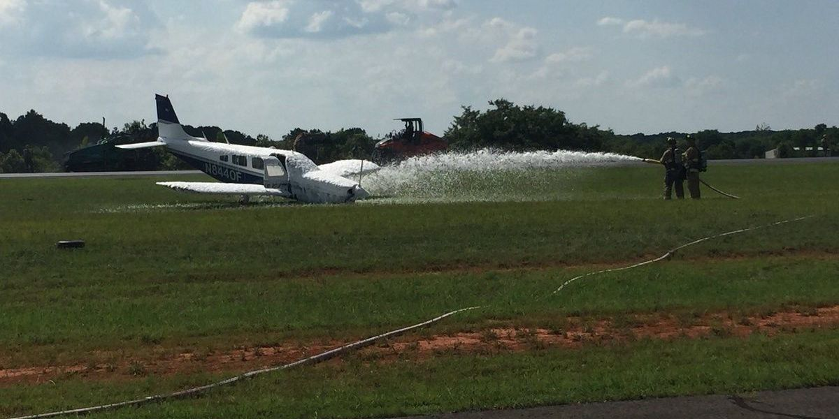 Fuel spills due to hard landing at airport in Rowan County