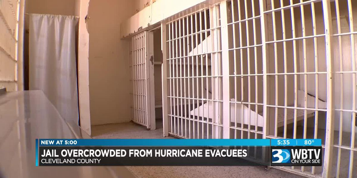 Jail overcrowded from hurricane evacuees