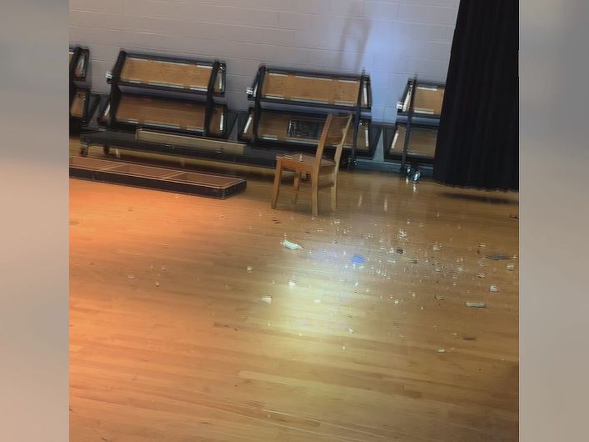 Ashe County High School gym, auditorium damaged in heavy winds