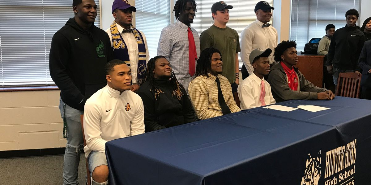 Record Number of Signees for Hunter Huss Football