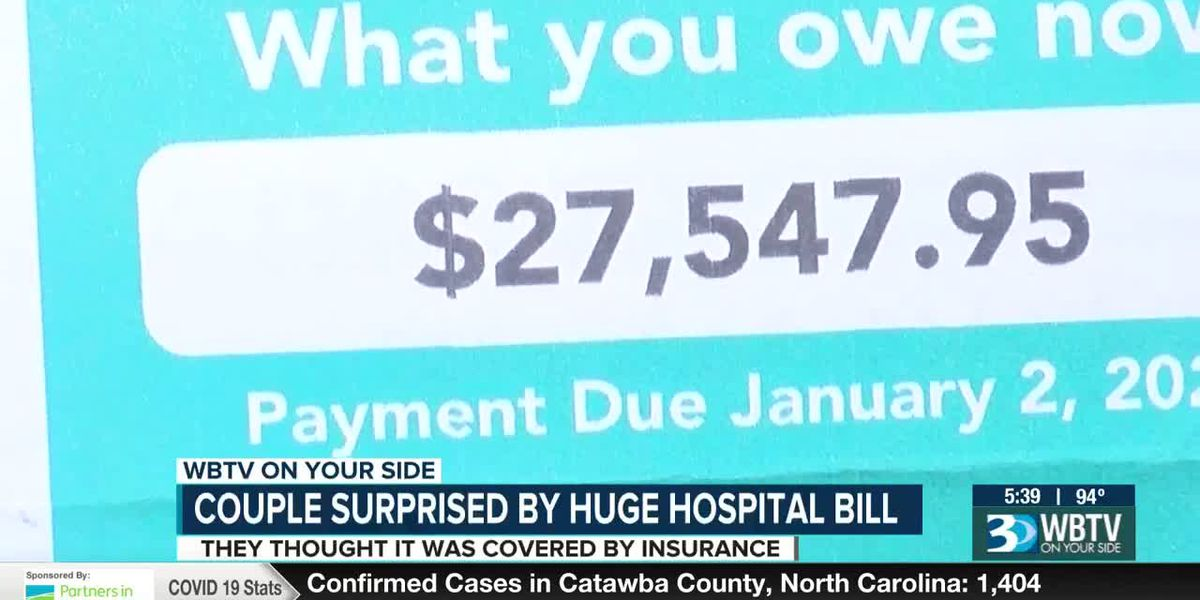 Couple surprised by huge hospital bill