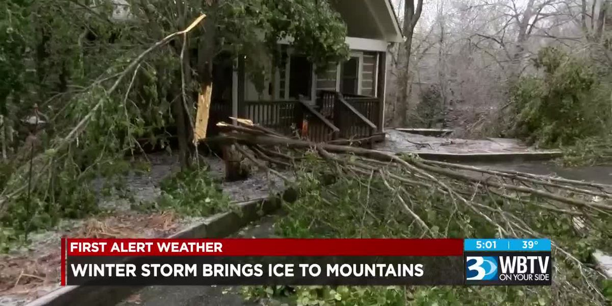 Winter storm brings ice to NC mountains